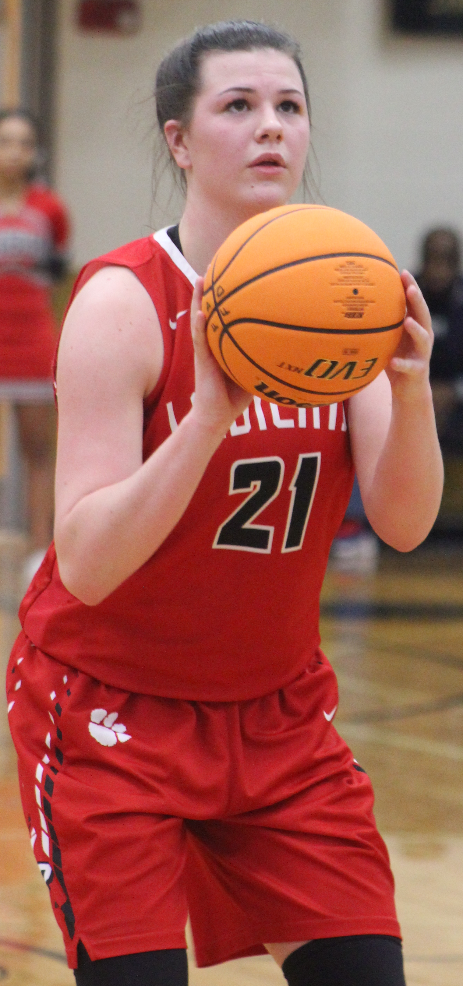 Andy Diffenderfer/The Clayton Tribune Destiny Deetz scored seven points and grabbed 10 rebounds in Rabun County's playoff game last Friday at Douglass.