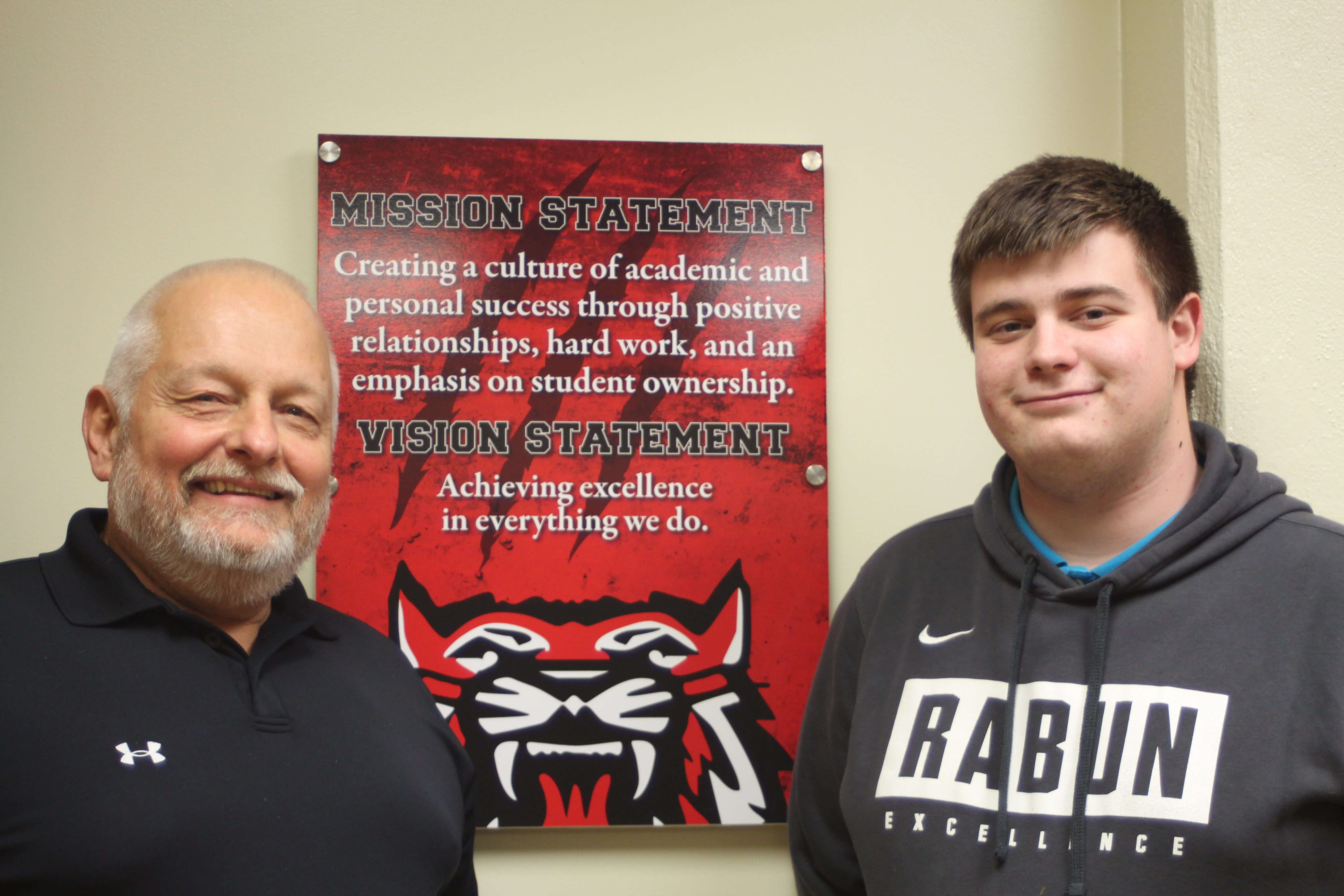 Megan Broome/The Clayton Tribune Senior Walker Radford, right, was selected as the 2019-2020 Student Teacher Achievement Recognition (STAR) Student for Rabun County High School and chose Terry Seehorn as his STAR Teacher.