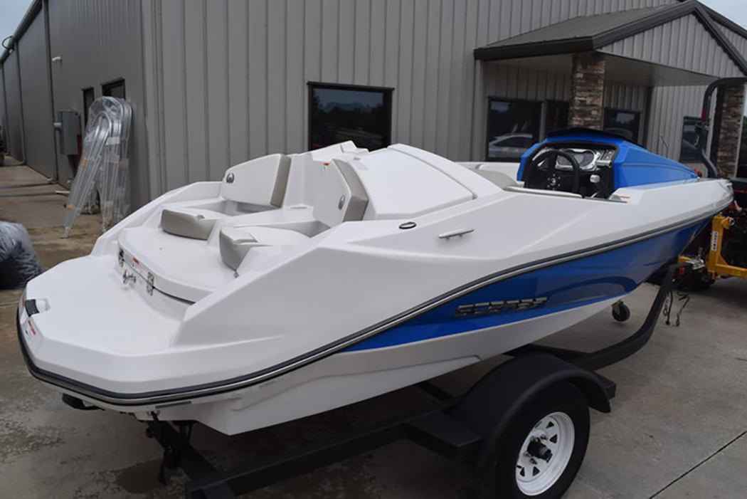 Jet boats are popular with families because they use jet engines rather than propellers, making them safer for pul-behind sports. (Photo/Boating Atlanta)