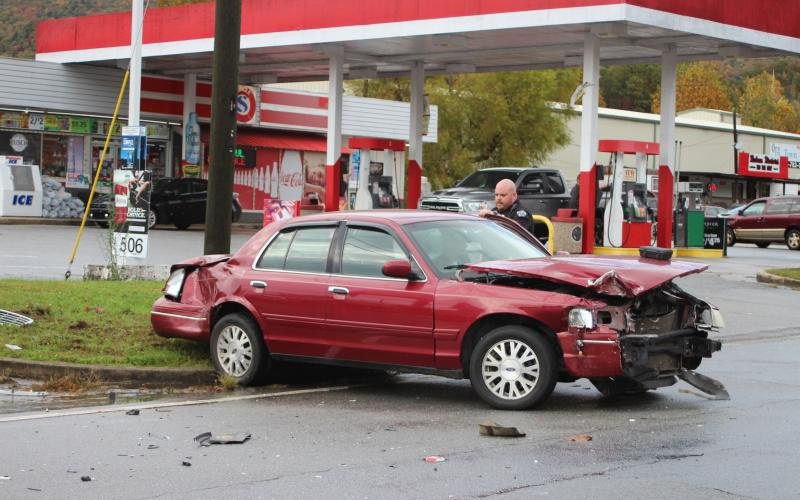 Megan Broome/The Clayton Tribune. A Mountain City man was arrested following a car accident in Clayton on Ga 15 on Thursday, Oct 31 around 4:32 p.m.