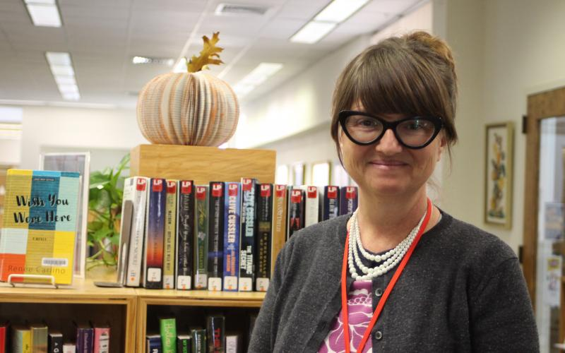 "Caroline Frick is the new Library Manager or ""Chief Nerd"" at the Rabun County Library as of Thursday, Nov. 14."