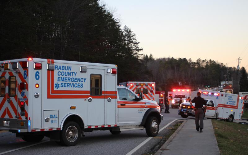 Megan Broome/The Clayton Tribune. A fatal accident in Dillard on Monday, Dec. 30 closed down traffic on Highway 441 for several hours as emergency personnel worked the scene. Two women were killed and one teenager airlifted following the high-speed crash.