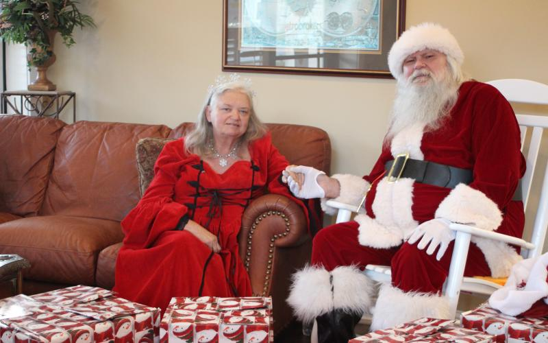 Megan Broome/The Clayton Tribune. Rabun County's Tony and Maryjane Phillips have devoted a decade of their lives helping spread Christmas cheer at Christmas.