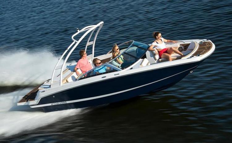 Shown is a 2019 Four Winns HD 200 boat with wake board tower. PHOTO/BOATING ATLANTA