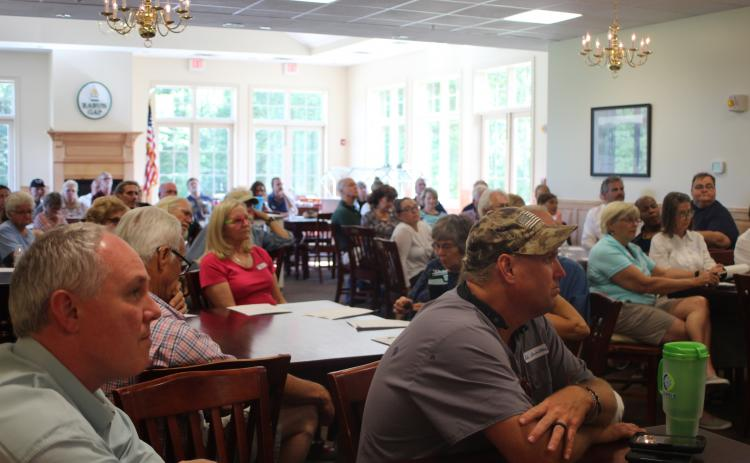 About 60 people turned out for a meeting on the Rabun County Comprehensive Plan Monday night in Rabun Gap.