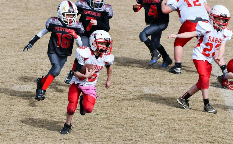Wyatt English was a workhorse for Rabun County in last Saturday's Super Bowl in carrying the ball. The Wildcats finished the season undefeated thanks to a total team effort throughout the year.