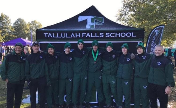 The Tallulah Falls boys team poses for a photo after the race.