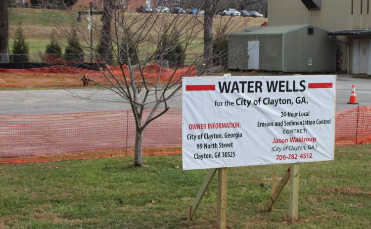 Megan Broome/The Clayton Tribune. The city of Clayton recently drilled two wells at City Hall as part of a test project aimed at saving its water service customers money by substituting part of its water system with well water.