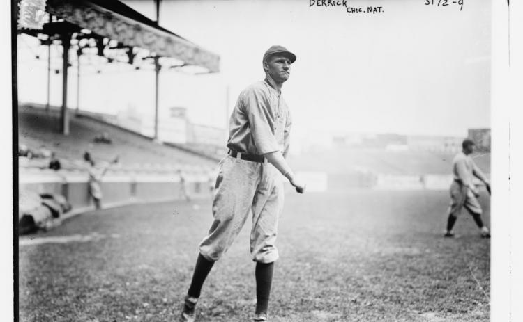 Submitted photo Claud Derrick played for four different teams in five seasons as a major leaguer: Philadelphia Athletics, New York Highlanders (later known as the Yankees), Cincinnati Reds and the Chicago Cubs.
