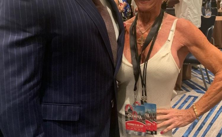 Submitted photo Iris Davis is with Brandon Curry, the 2019 Mr. Olympia.