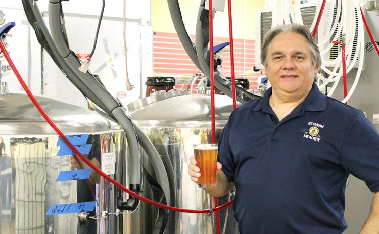 Blair Housely is ready to raise a glass to the upcoming Dahlonega Brewery.