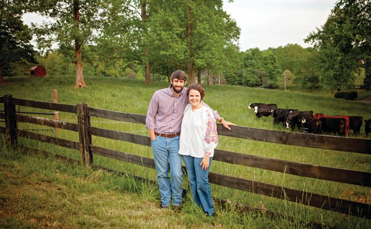 Kyle and Caroline Lewallen are the owners of teXga Farms in Clarkesville.